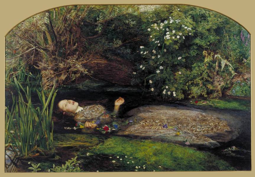 "Overwrought death scene, rich colours, obsession with detail...John Everette Millais's ""Ophelia"" (1851-2) certainly fits the pre-Raphaelite bill. (Courtesy www.tate.org.uk)"